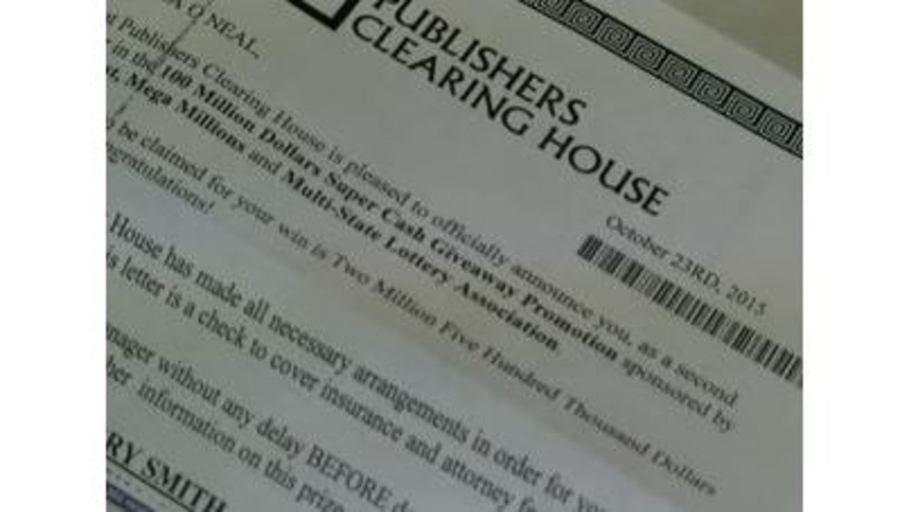 Beware of people misusing the Publishers Clearing House