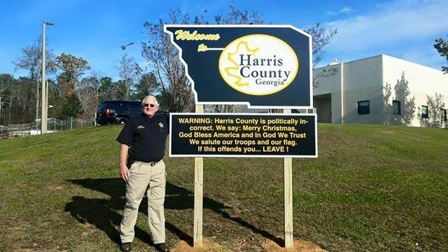 POLL: Harris County Sheriff pays for controversial sign out of his own pocket
