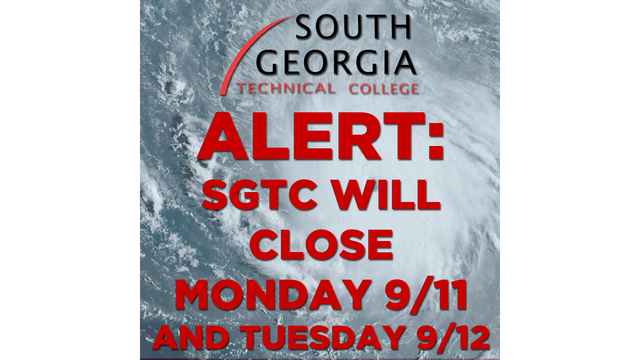 South Georgia Technical College closing both campuses Monday and Tuesday due to weather concerns