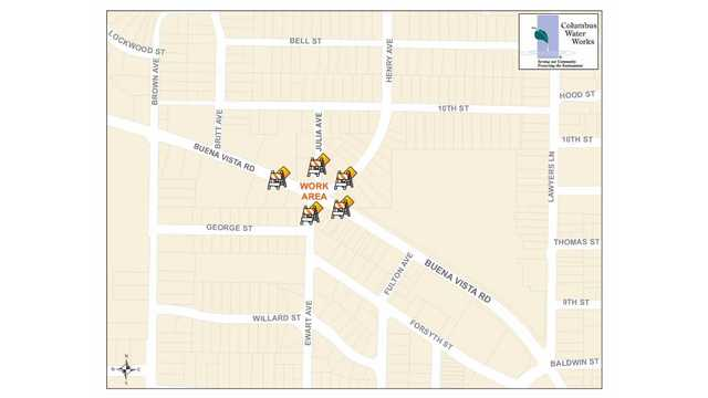 Intersection of Buena Vista Rd & Henry Ave to close Sunday for repairs