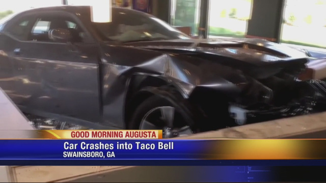 Car drives into east Georgia Taco Bell; driver charged with murder