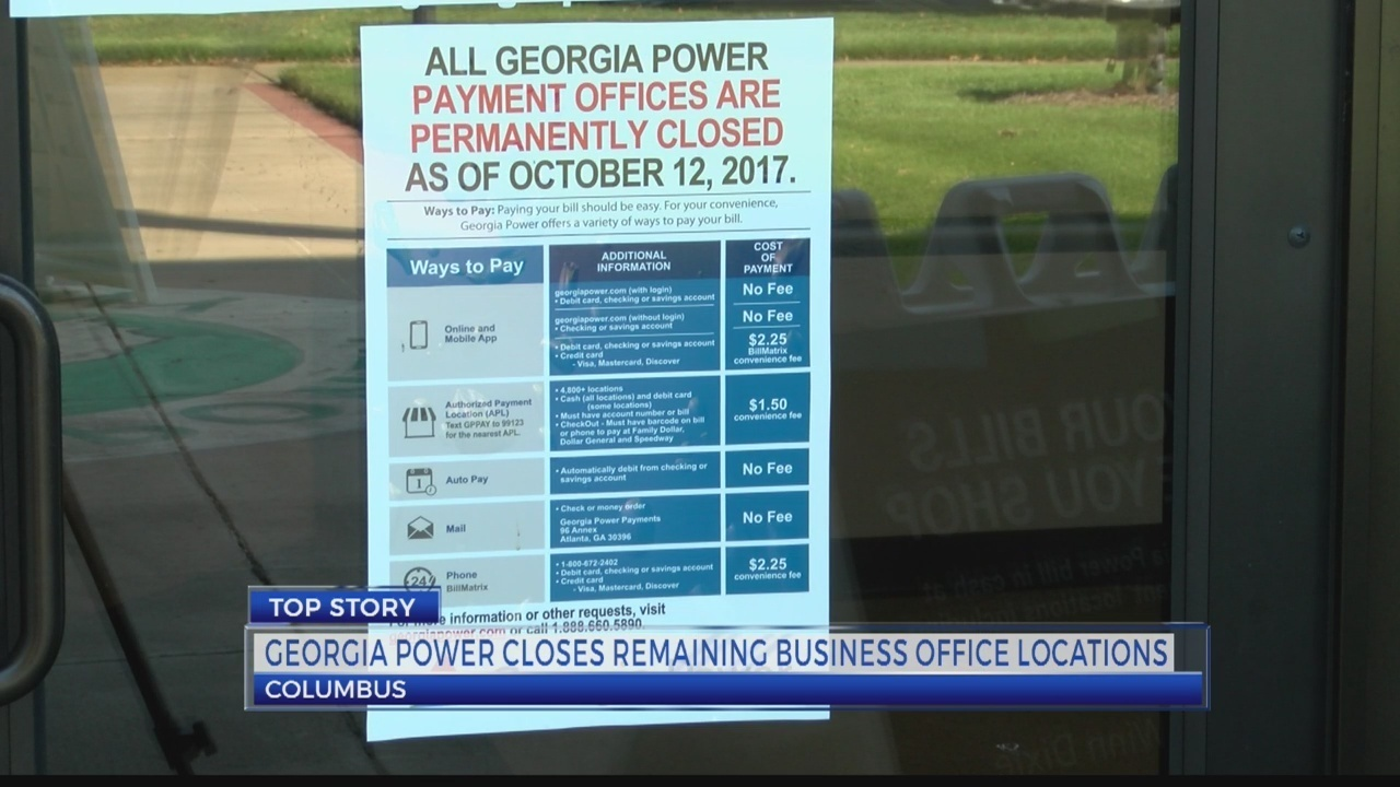 Georgia Power closes all its payment offices across the state