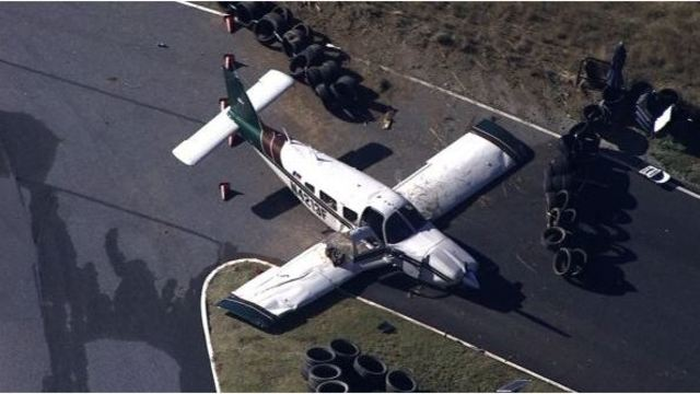 Pilot injured after small plane makes emergency landing in Dawson County