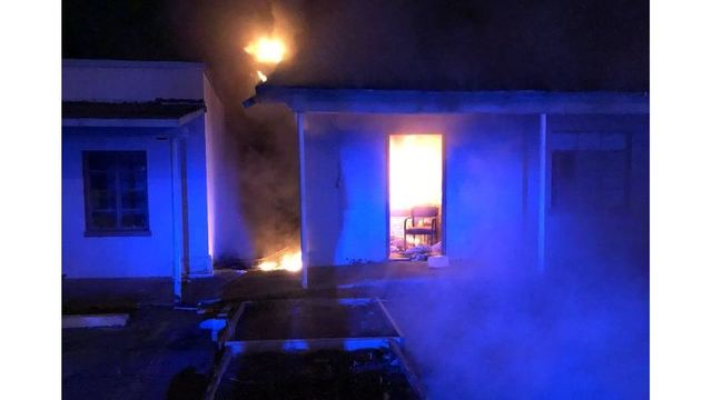 Vacant motel on fire in Smiths Station