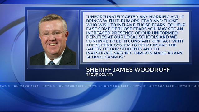 Sheriff's office increasing presence at schools across Troup County