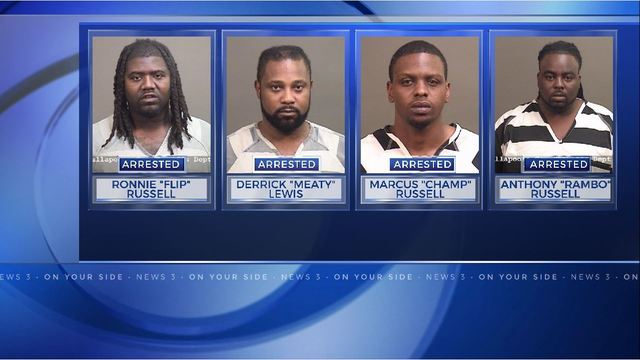 4 men arrested on a slew of drug charges in Tallapoosa County