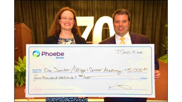 Phoebe Sumter Medical Center Makes Donation to Americus Area College & Career Academy