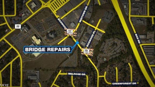 Boxwood Blvd to close for 5 months for Lindsey Creek bridge repairs