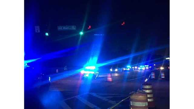 Accident on the intersection of Old Moon Road and Veteran's Parkway