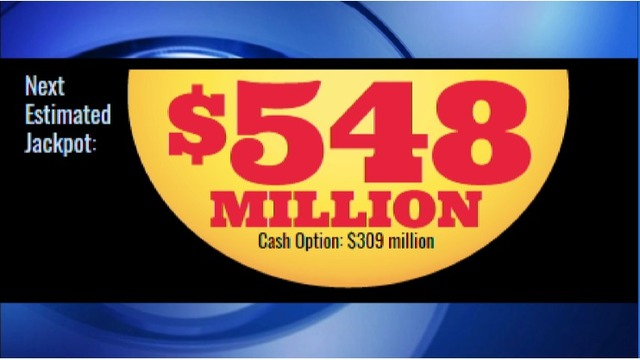 JACKPOT: Mega Millions swells to $548 MILLION, third largest in game's history