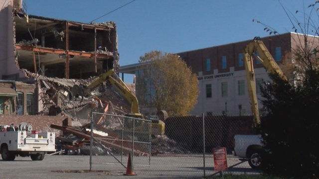 Major downtown road closed as demolition begins for new hotel