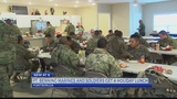 Ft. Benning Marines and Soldiers get a holiday lunch