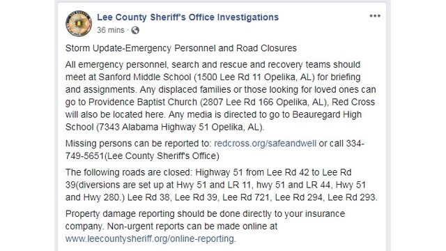LCSO provide information for emergency responders and displaced families