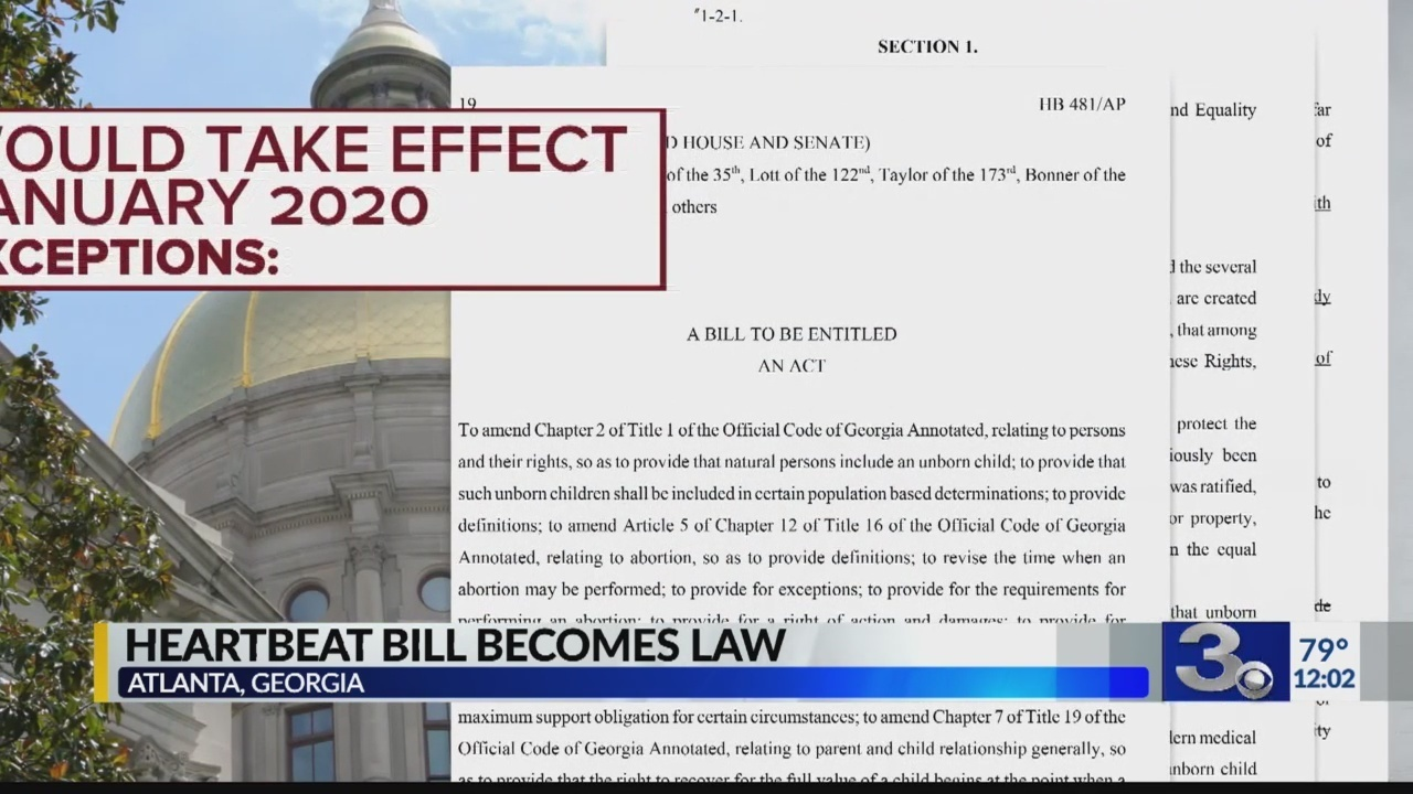 georgia signs restrictive abortion bill as alabama