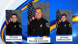 After three officers were shot on Sunday, families and community raise funds