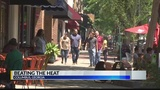 Residents attempt to beat the heat as temperatures continue to soar