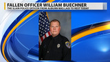 Fallen officer William Buechner has been laid to rest, following a day long memorial service